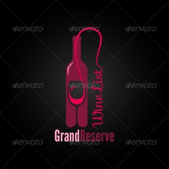 Wine Glass Bottle Design Menu Background - Food Objects