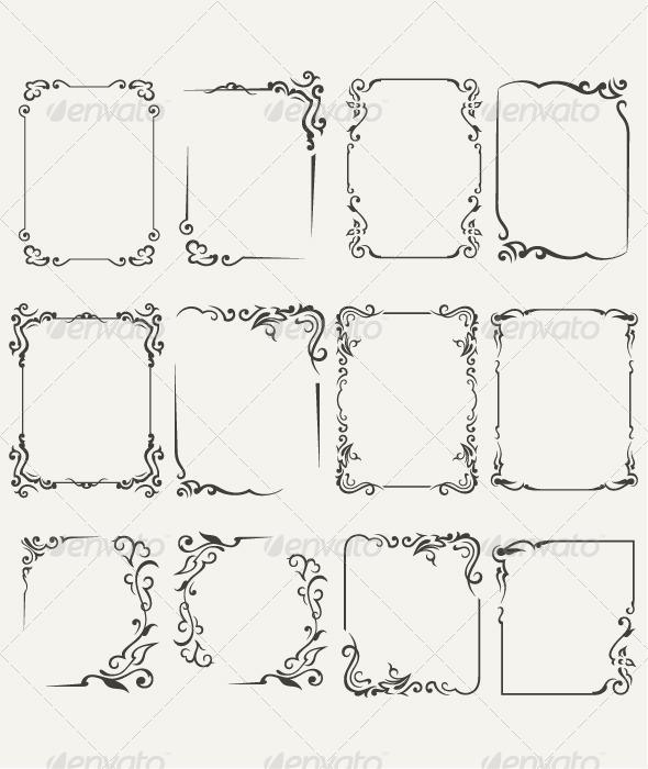 Collection Framework - Flourishes / Swirls Decorative