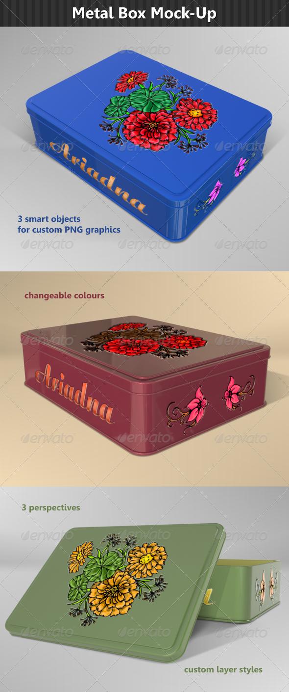 Rectangular Metal Box Mock-Up - Miscellaneous Packaging
