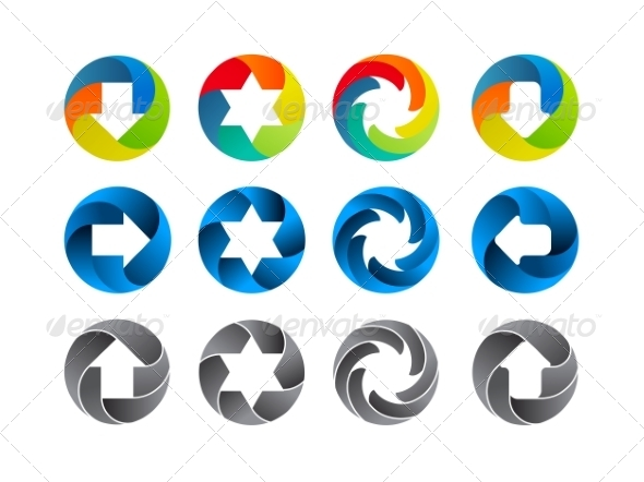 Abstract Color Icon Set - Abstract Conceptual