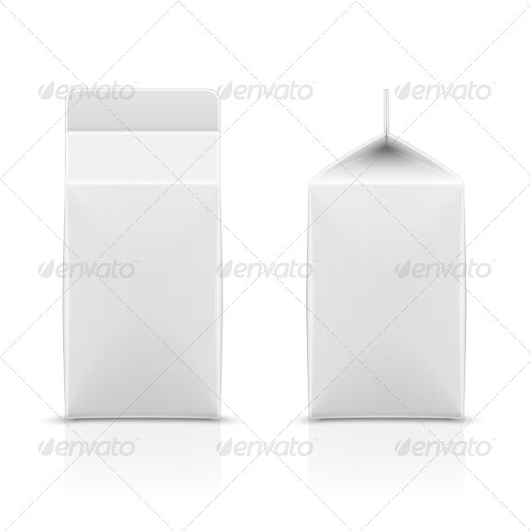 White Cardboard Milk Package. - Retail Commercial / Shopping