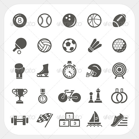 Sport Icons Set - Sports/Activity Conceptual
