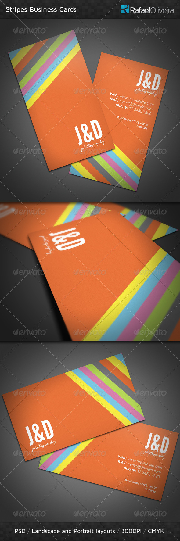 Stripes Business Card - Creative Business Cards