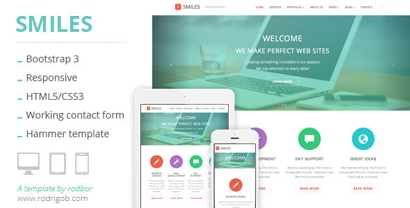 Smiles – Responsive Multi-purpose HTML Template