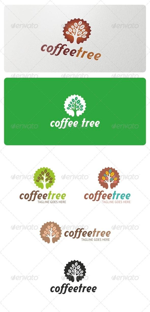 Coffee Tree Logo - Nature Logo Templates