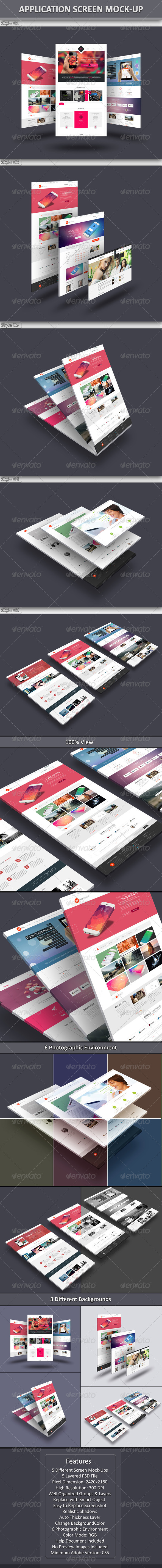 App Screen Mock-Up - Website Displays