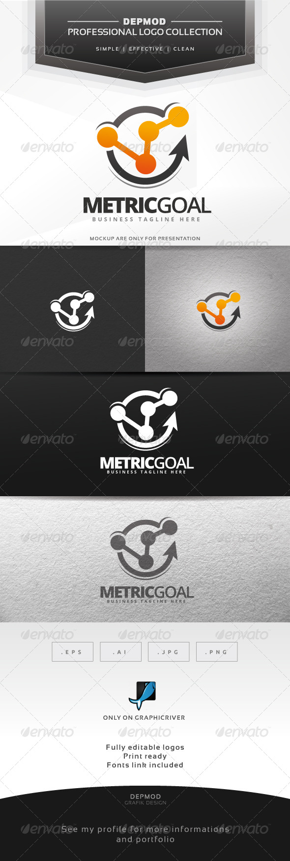 Metric Goal Logo - Symbols Logo Templates