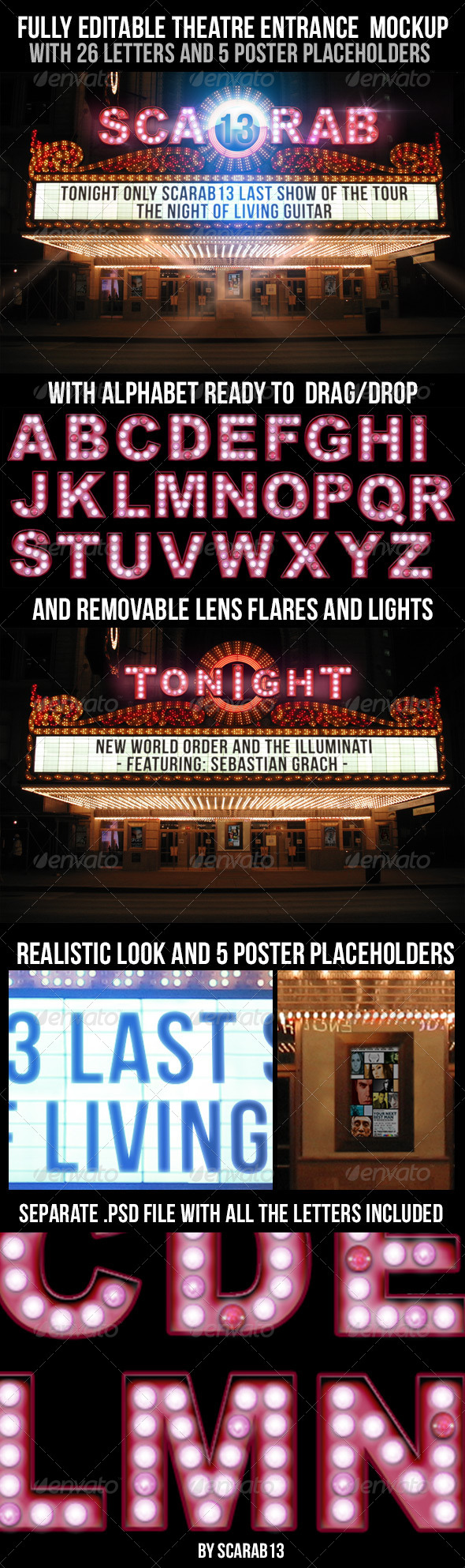 Realistic Looking Editable Theatre Mockup - Miscellaneous Graphics