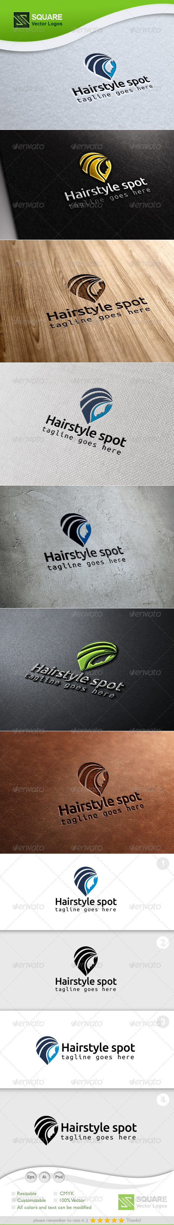 Hair, Locator Vector Logo Template - Humans Logo Templates