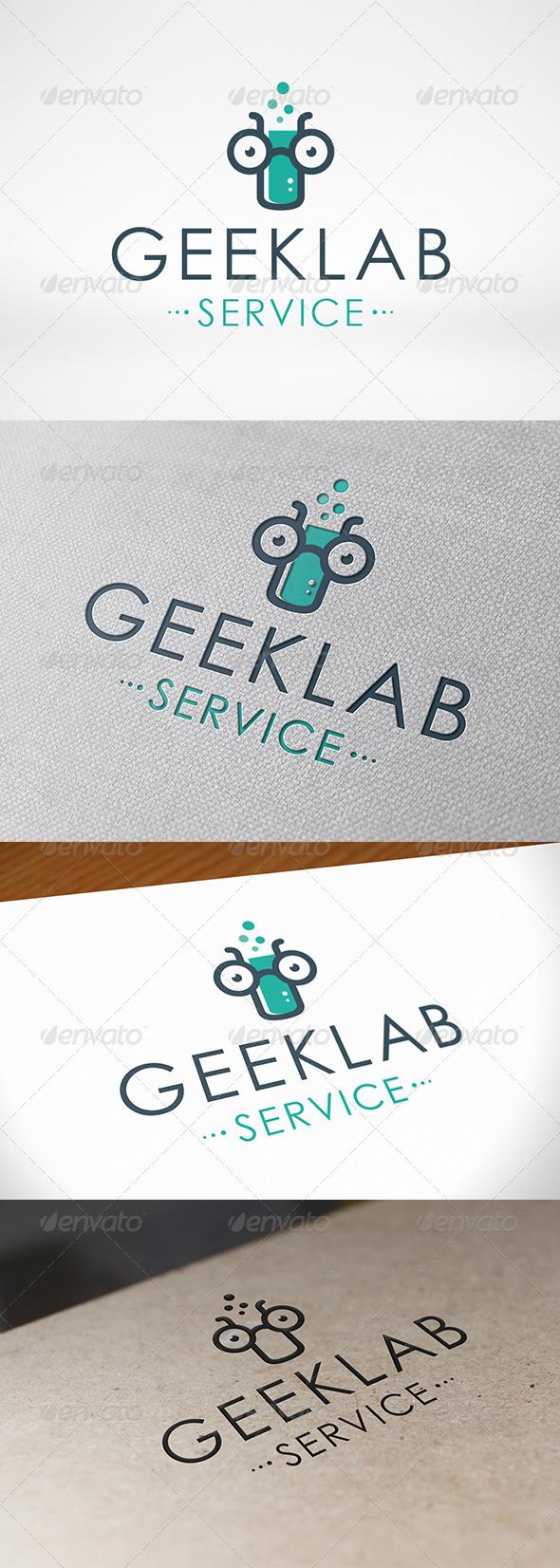 Geek Lab Logo Template - Symbols Logo Templates