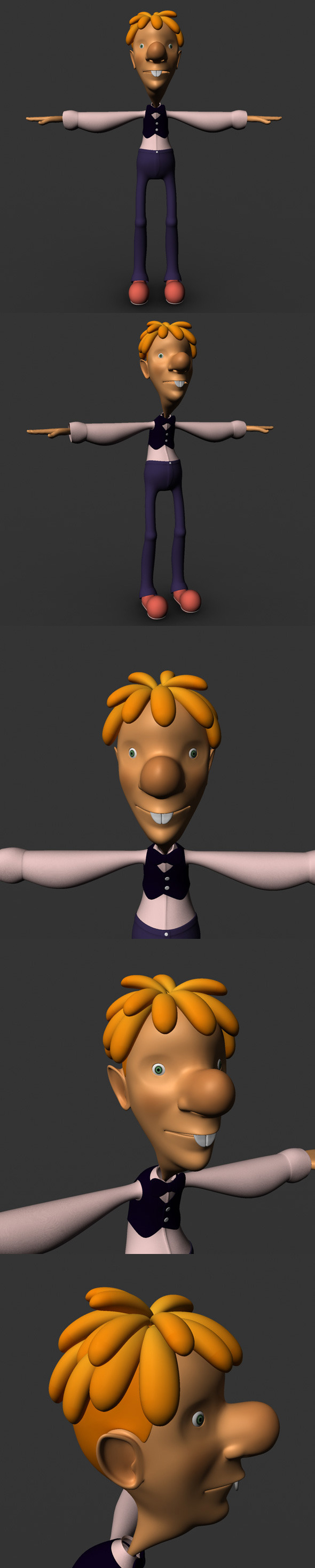 Cartoon Character Model - 3DOcean Item for Sale