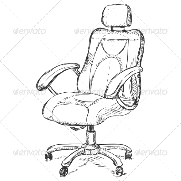 Office Armchair - Man-made Objects Objects