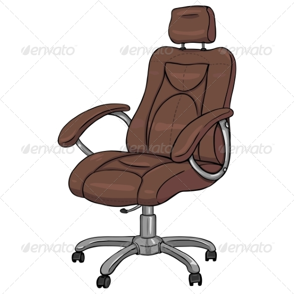 Brown Office Armchair - Man-made Objects Objects