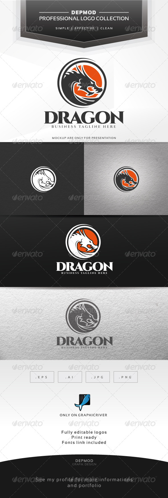 Dragon Logo - Crests Logo Templates