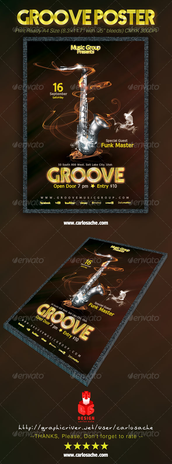 Groove Poster - Events Flyers