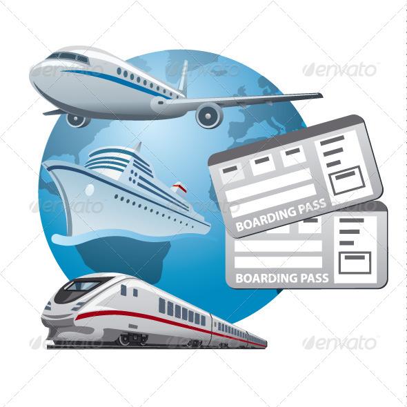 Travel Tickets - Vectors