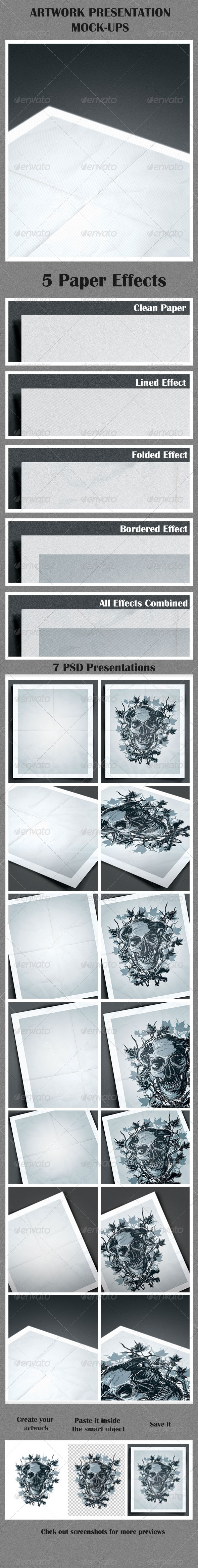 Artwork Presentation Mock-Ups - Print Product Mock-Ups