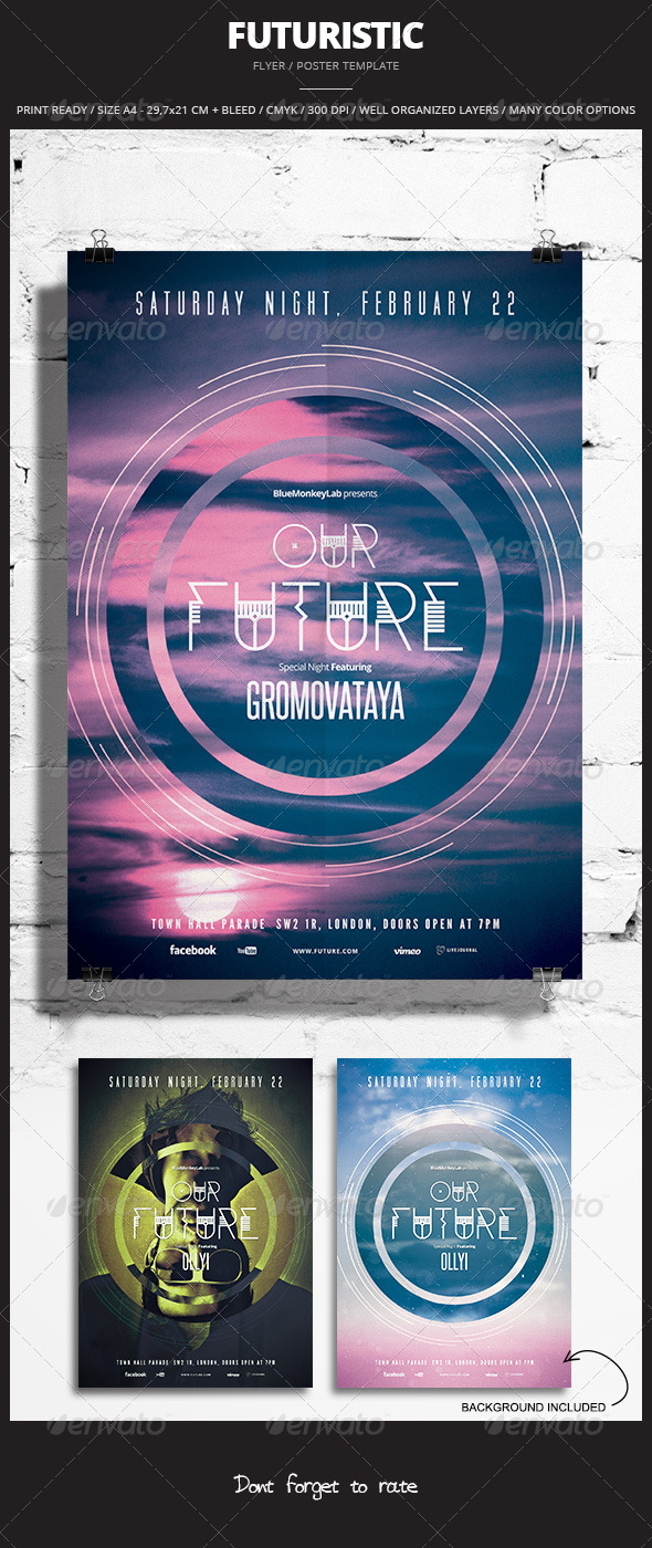 Futuristic Flyer / Poster 6 - Events Flyers