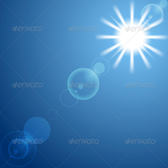 Shining Sun on Blue Sky - Nature Conceptual