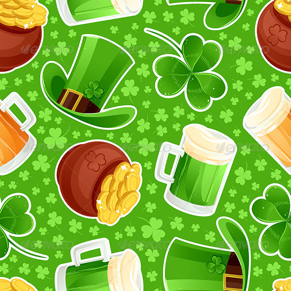 Seamless Green Background St. Patrick's Day - Miscellaneous Seasons/Holidays