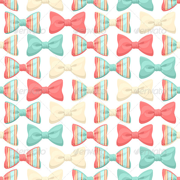 Striped Bows - Miscellaneous Vectors