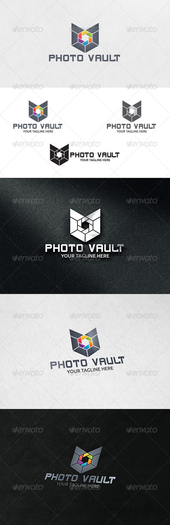 Photo Vault - Logo Template - Vector Abstract
