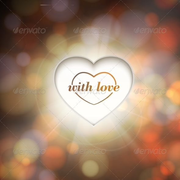 Contour Heart and Bokeh Background - Valentines Seasons/Holidays