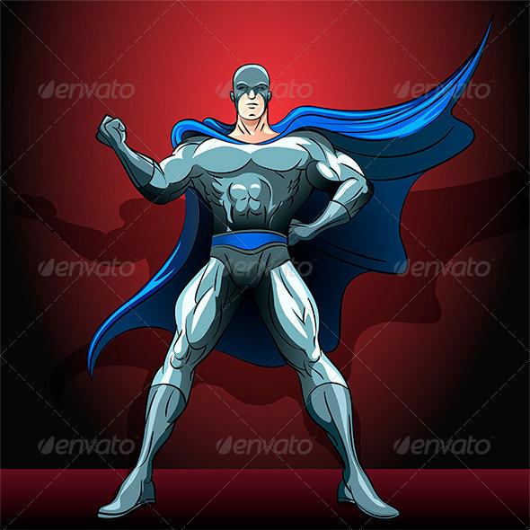 The Superhero - Characters Vectors
