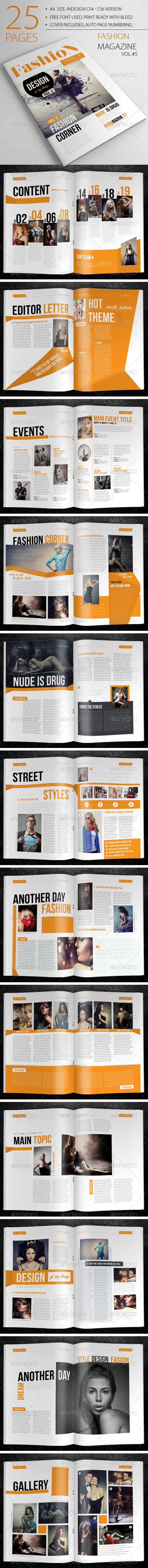 25 Pages Fashion Magazine Vol5 - Magazines Print Templates