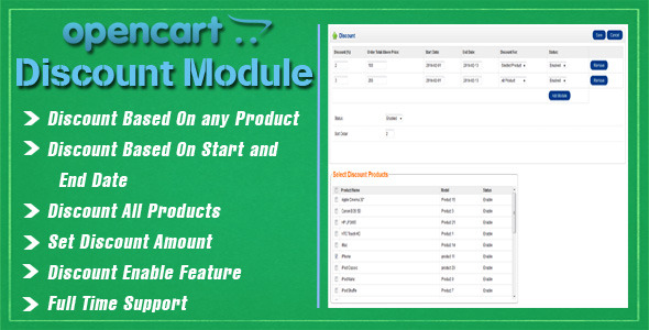 Opencart Discount Module - CodeCanyon Item for Sale