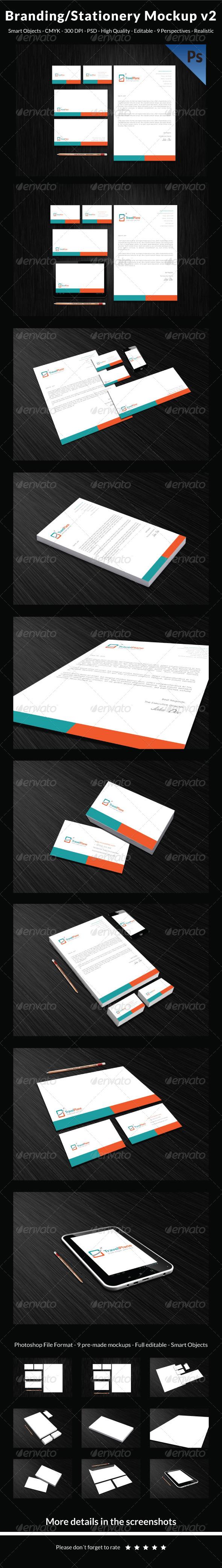 Clean Branding/Stationery Mockup v2 - Stationery Print