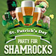 Party For Shamrocks St. Patrick's Flyer Template - GraphicRiver Item for Sale