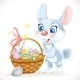 Easter Bunny with a Basket of Eggs - GraphicRiver Item for Sale