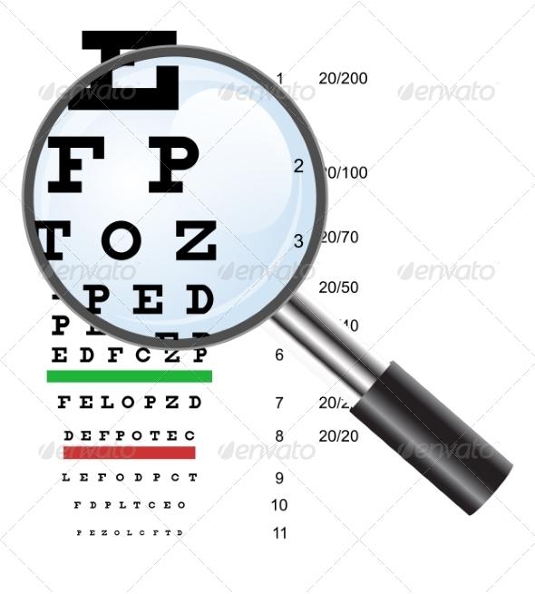 Eye Test - Health/Medicine Conceptual