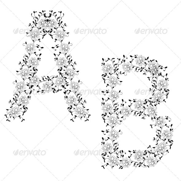 Ornamental Letters - Flourishes / Swirls Decorative