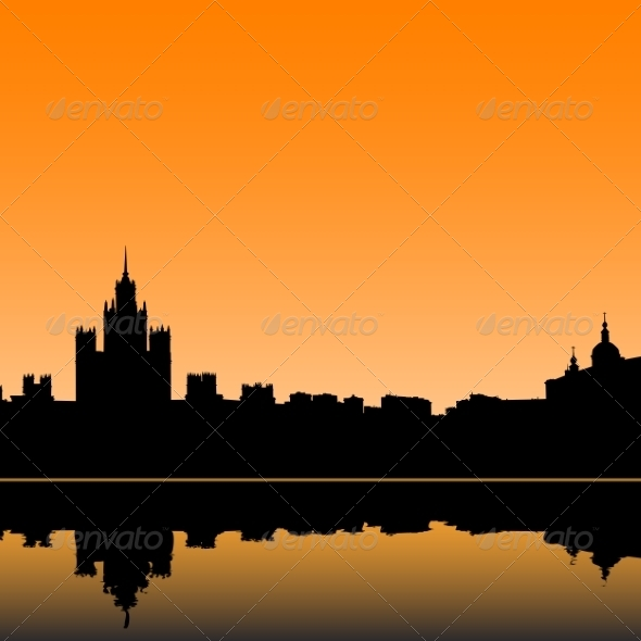 Moscow Silhouette - Web Elements Vectors