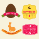 Easter Hipster Vector Emblems and Badges - GraphicRiver Item for Sale