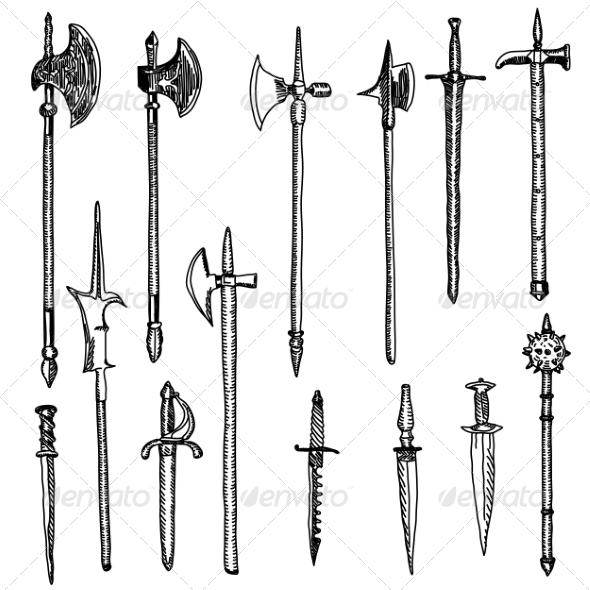 Weapon Collection - Web Elements Vectors