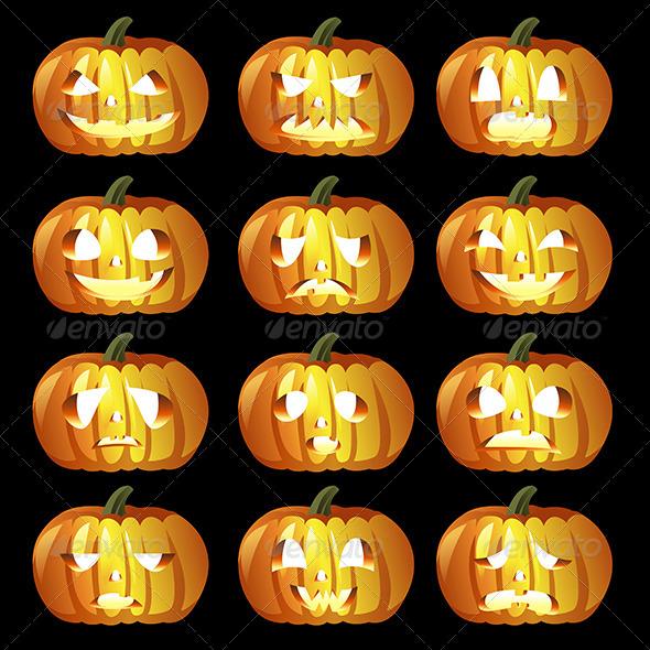 Halloween Pumpkin Icons - Halloween Seasons/Holidays
