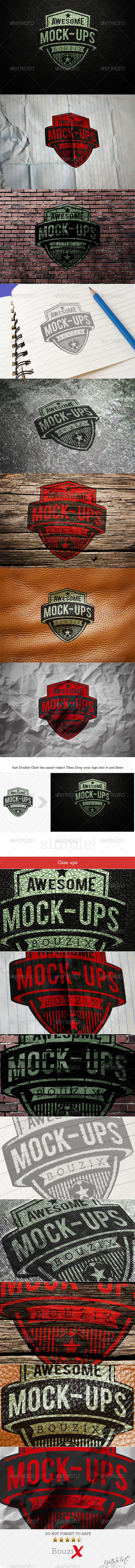 Photorealistic Logo Mockups V.1 - Logo Product Mock-Ups