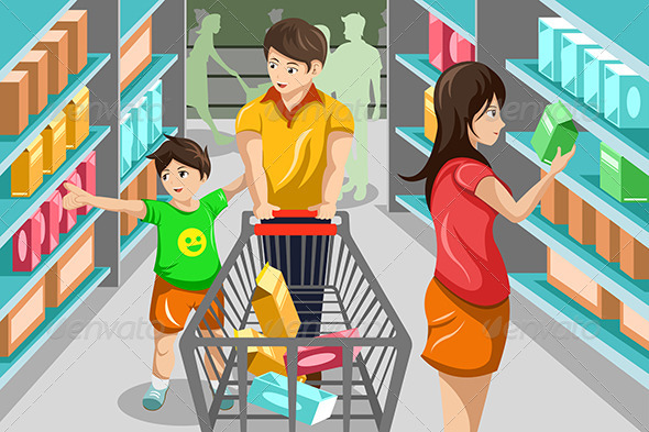 Family Grocery Shopping  - Commercial / Shopping Conceptual