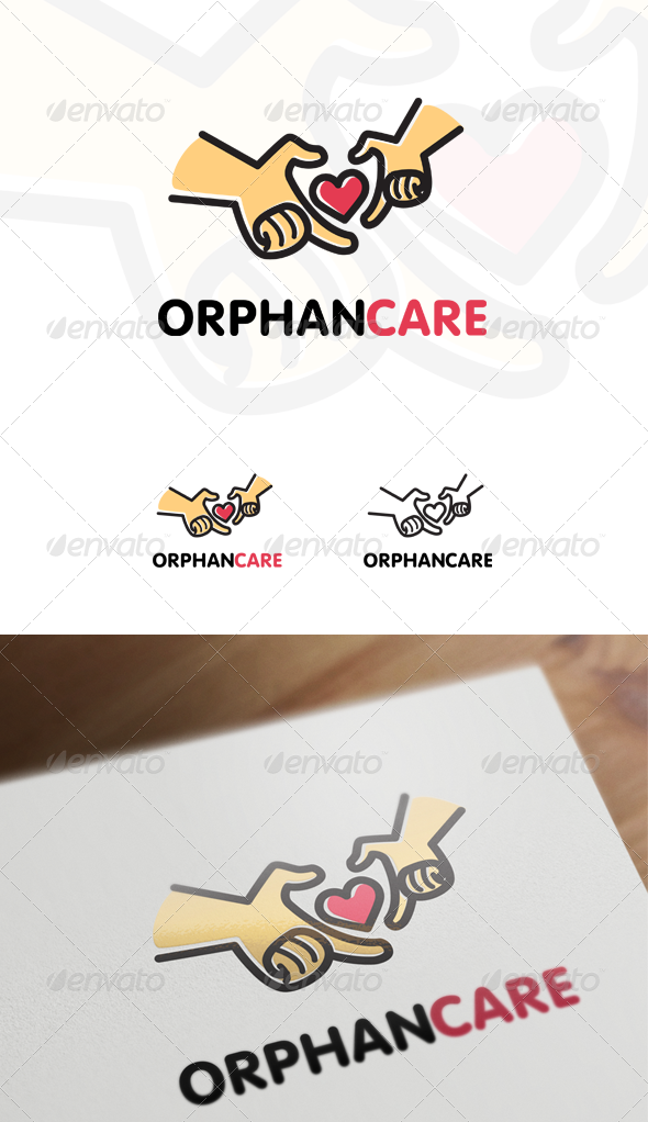 Orphan Care - Children & Family Logo - Humans Logo Templates