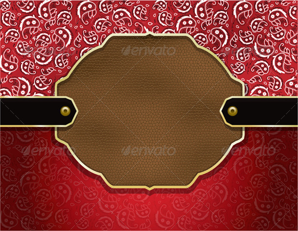 Vector Country Paisley and Leather Background - Backgrounds Decorative