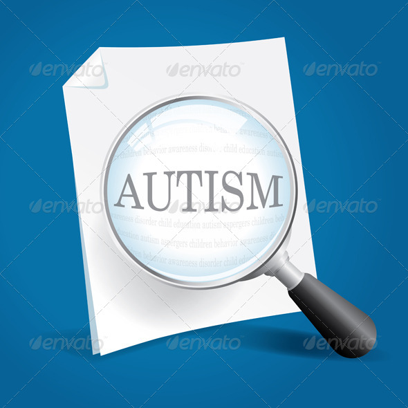 Taking a Closer Look at Autism Vector - Health/Medicine Conceptual