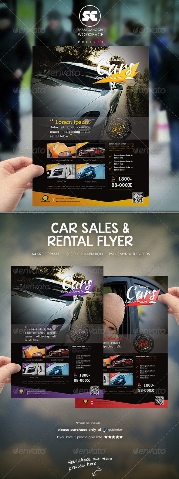 Car Sales Rental Flyer/Magazine Ads - Corporate Flyers