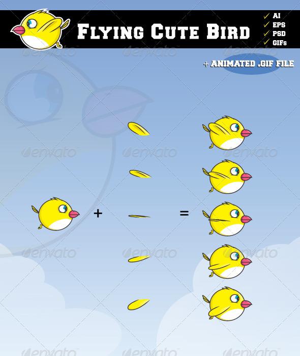 Flying Bird - Sprites Game Assets