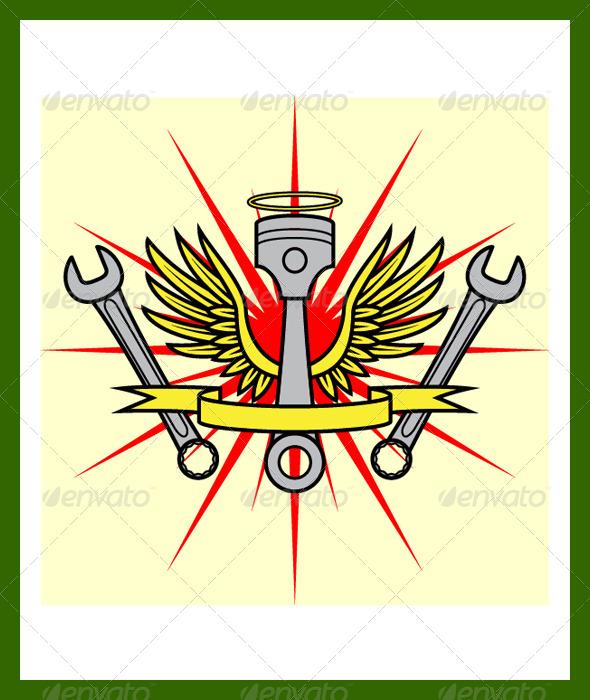 Angel Emblem - Conceptual Vectors