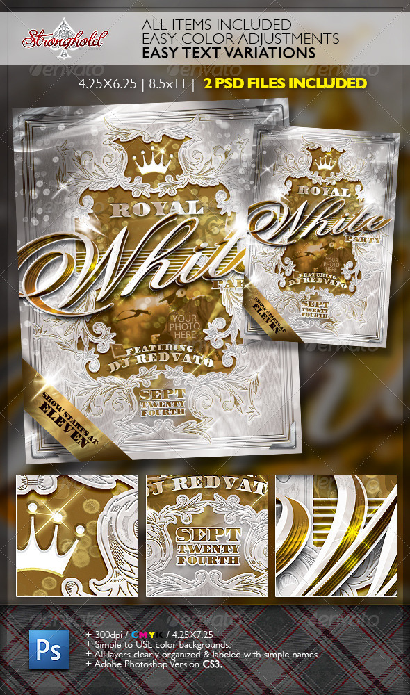 Royal White Party Event Flyer Template - Events Flyers