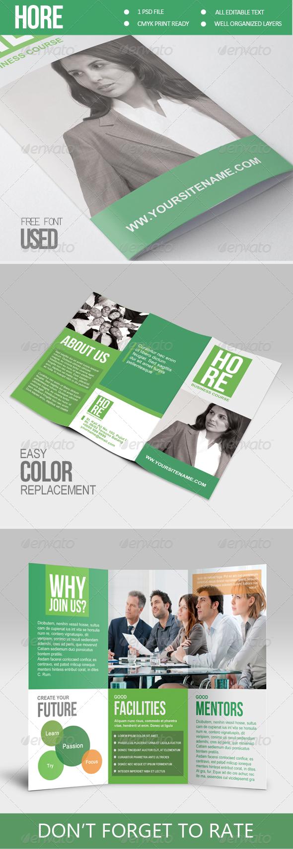 Hore - Multipurpose Trifold Brochure - Corporate Brochures