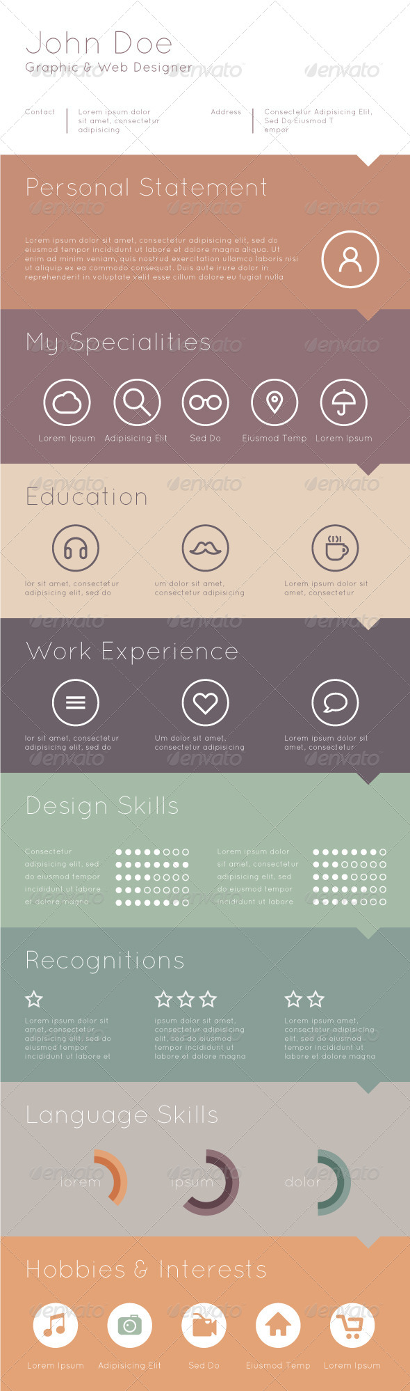 Template for Your Resume - Business Conceptual